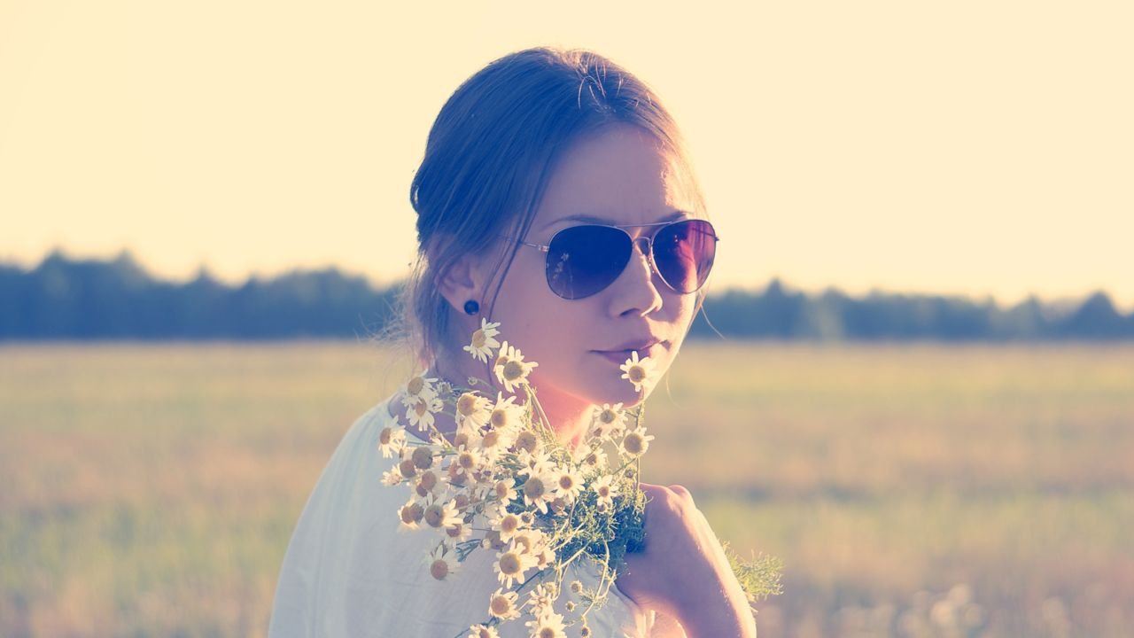 Dreamy Girl with Flowers