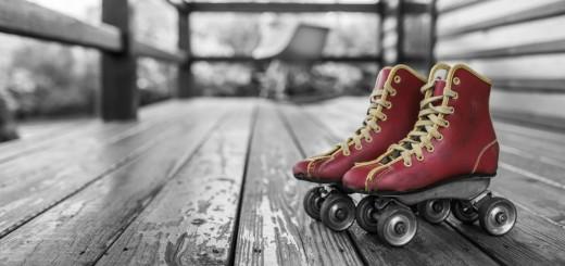 Red Roller Skates