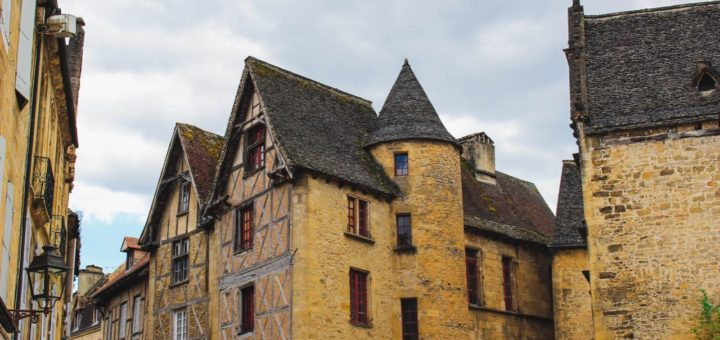 preserved medieval architecture street