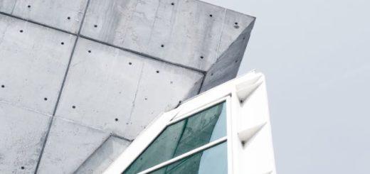 corner of a modern minimalistic building