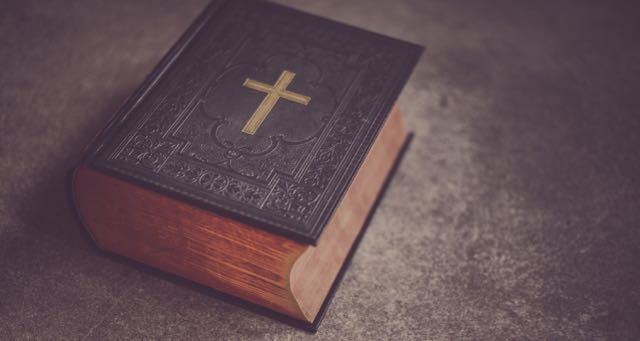 old leather bound bible