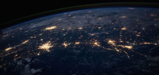 planet earth at night from space
