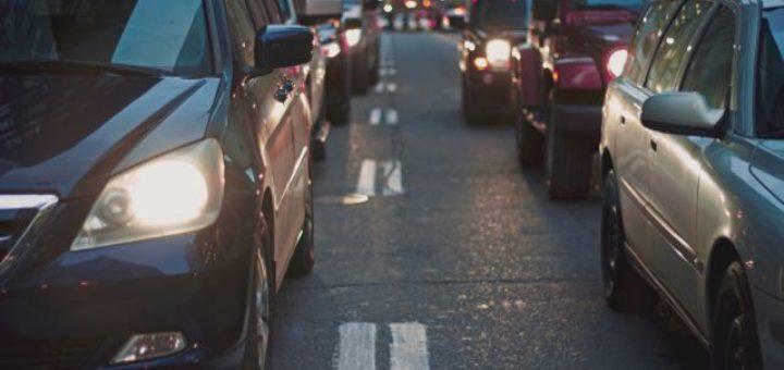 bumper to bumper traffic on a city street